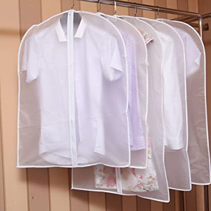 6864cb61f7e3 HJL Clothes Dustproof Cover Hanging Pocket Clothes Storage Bag ...