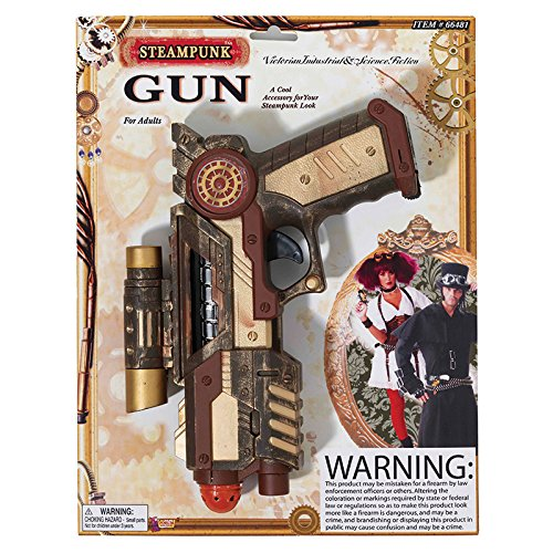 Retail Zone Men's Steampunk Gun Victorian Johnny Rotten Fancy Dress Accessory 22Cm Lenght - 16Cm Height (Wild West Fancy Dress)