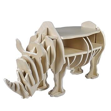 VidaXL Nashorn Design Zuhause Dekor Organizer Beistelltisch Couchtisch Wohnzimmertisch