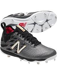 New Balance LowCut 406 Mens Metal Baseball Cleat 7.5 Black-Silver