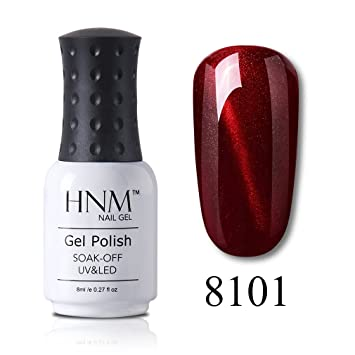 Amazon Hnm Uv Led Gel Nail Polish Wine Red 3d Cat Eye Soak Off