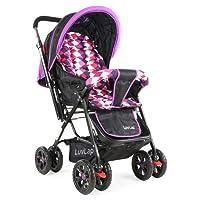 Luvlap Sunshine Baby Stroller (Purple Checks)