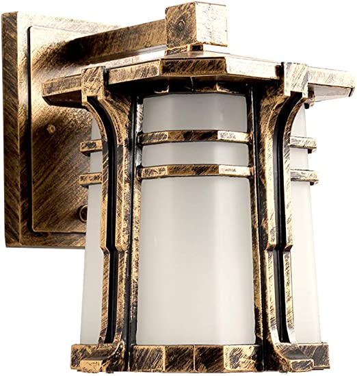 Lámpara de pared al aire libre Antiguo Bronce Exterior Luz Aplique ...