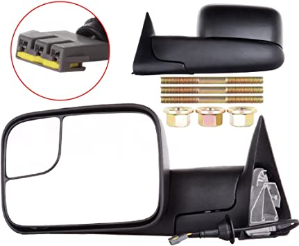 1994-1997 Dodge Ram 1500 2500 3500 Extend Flip Up Power Tow Mirrors Left+Right
