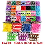17,000+ Mega Refill Loom Set for Kids Bracelet Weaving DIY Crafting Kit with Rainbow Rubber Bands,24 Charms,175 Beads,600 Clips,3 Backpack Hooks,Organizer Case with Handle by STSTECH
