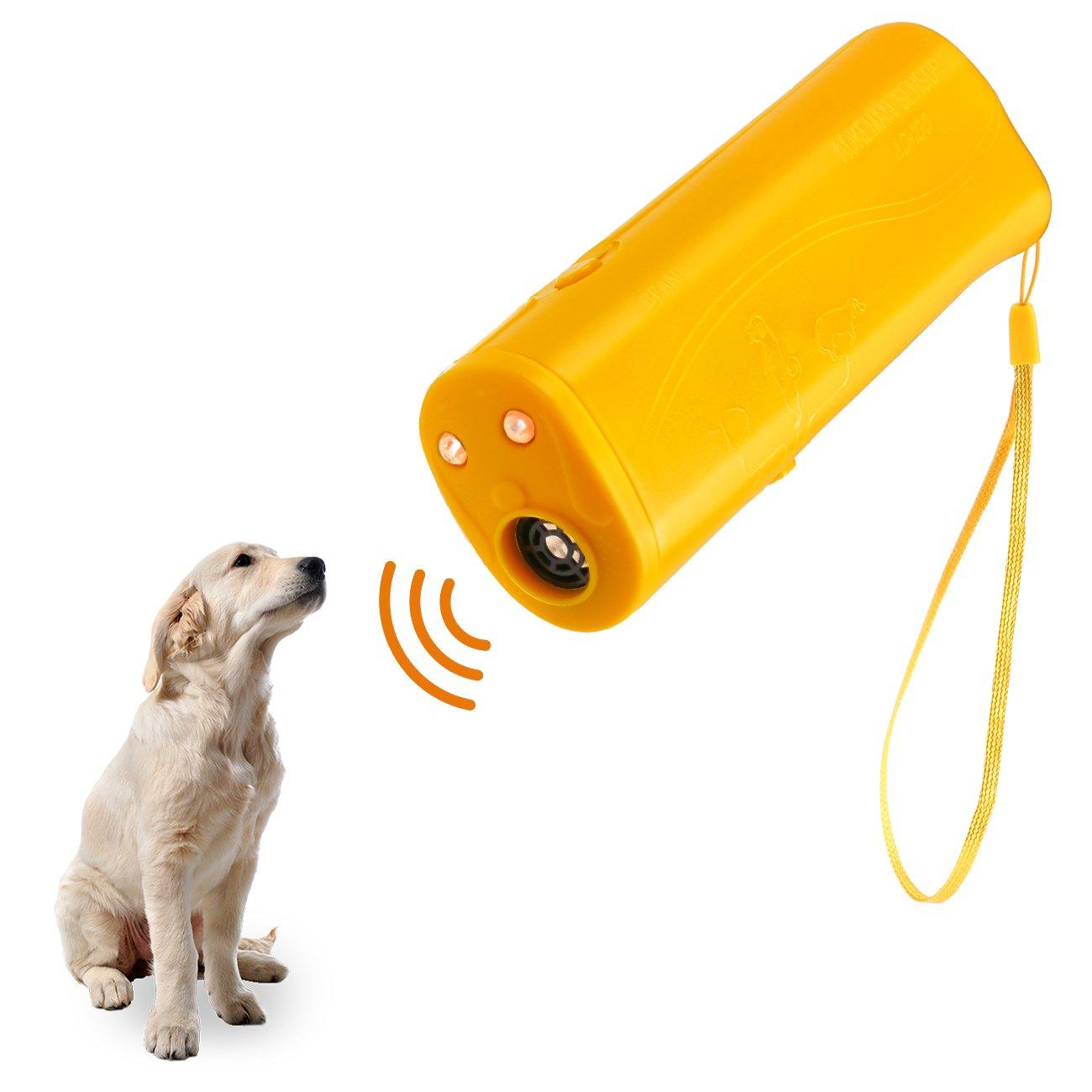 Handheld Dog Repellent, Dog Bark Control Device Dog Training Device with LED Flashlight