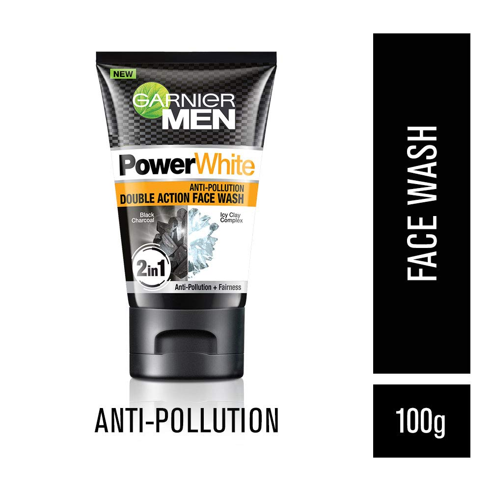 a6f315e9fc Buy Garnier Men Power White Anti-Pollution Double Action Facewash, 100gm  Online at Low Prices in India - Amazon.in