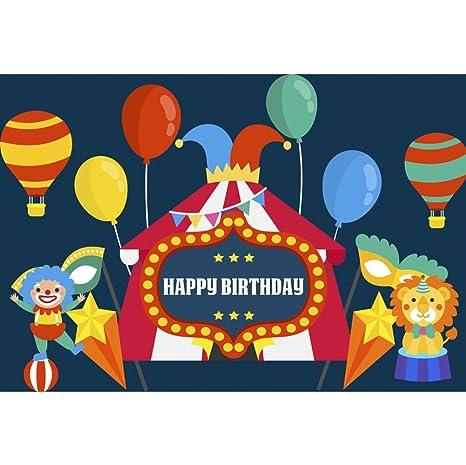 OERJU 2,7x1,8m Feliz cumpleaños Fondo Tema del Circo Payaso ...