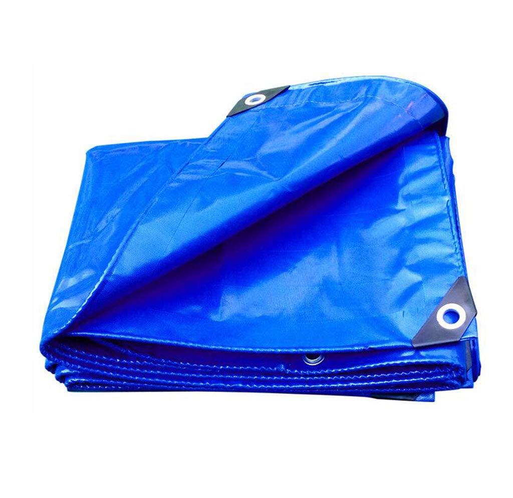 Yuke Blauer PVC-Regenschutz-vielseitige Plane mit Ösen zum Abdecken von Blaumenbeeten zum Schutz von Camping-Wetterschutz (größe   5x6m)