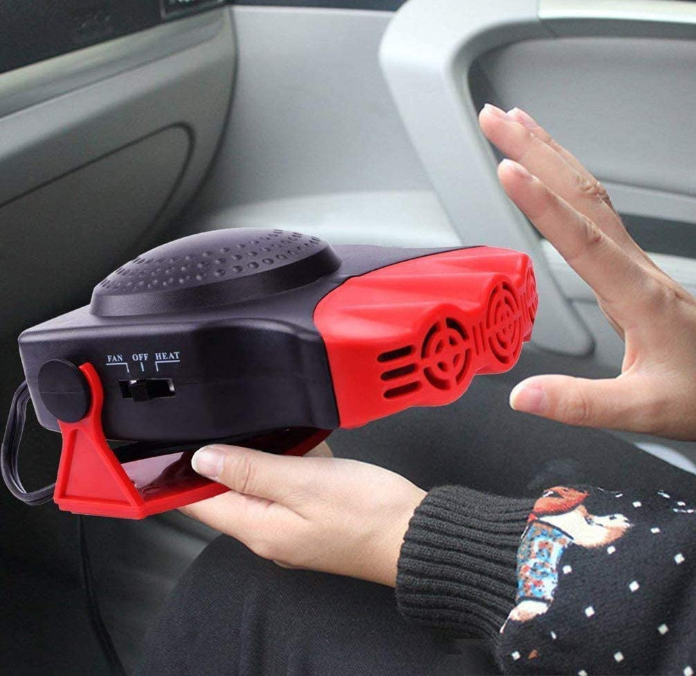 red Car Portable Vehicle-Mounted Fan Heater for Car Vehicle Accessories Parts Fashion Practical Gifts Handheld