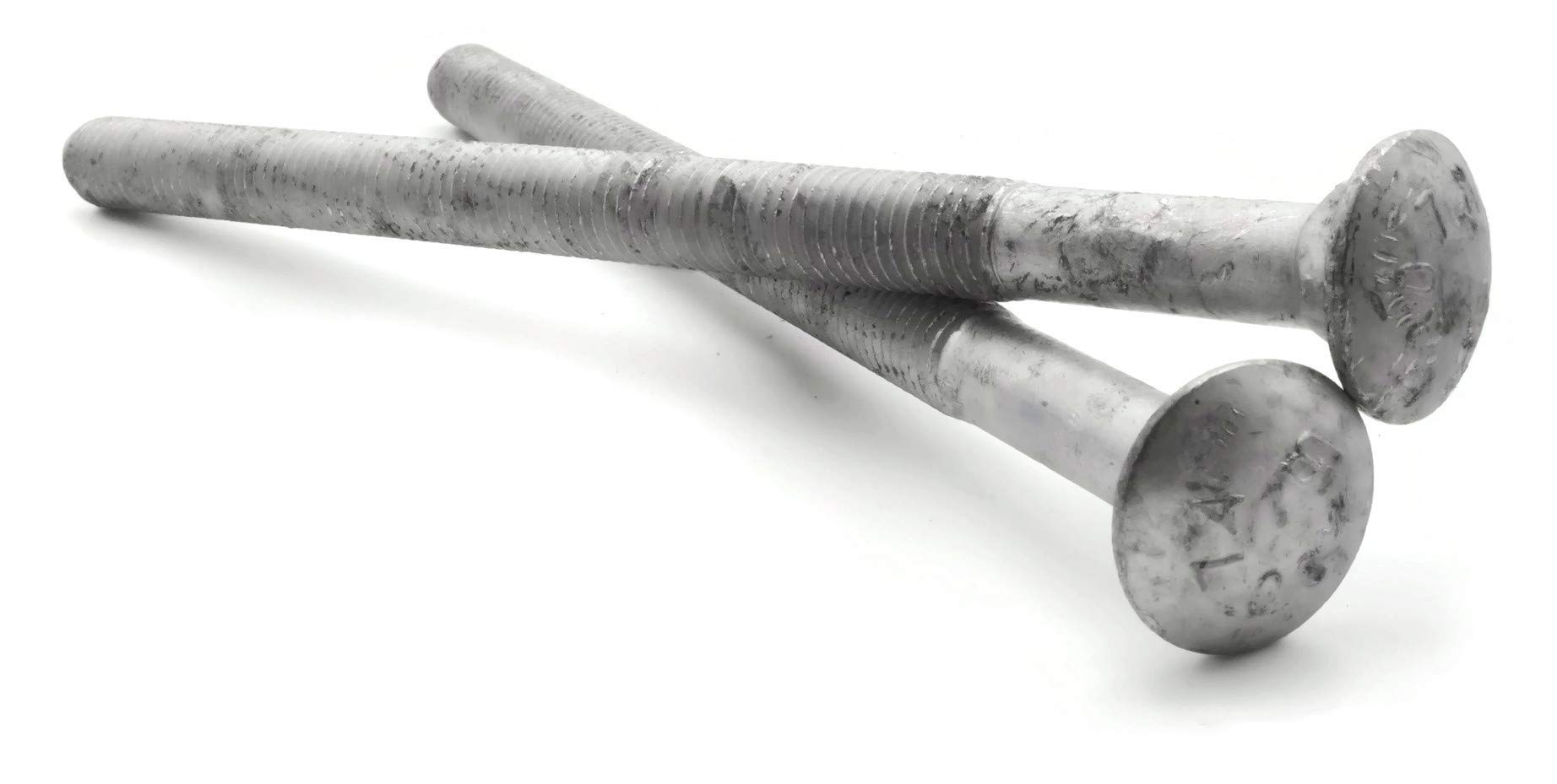 Carriage Bolt Hot Dipped Galvanized - 1/2''-13 x 10'' PT - Qty-100