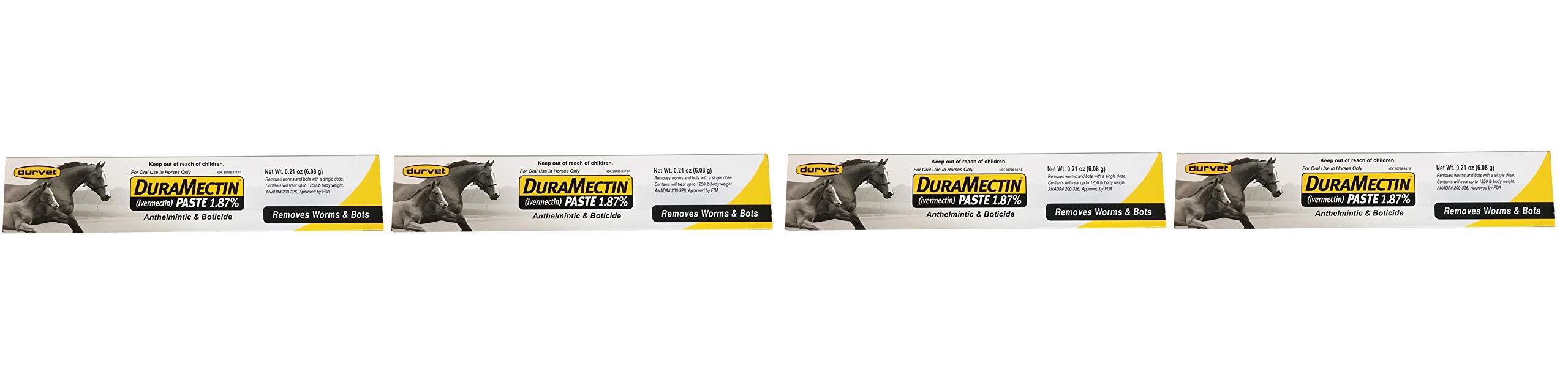 Duramectin Ivermectin Paste 1.87% for Horses, 0.21 oz (Fоur Расk) by Durvet