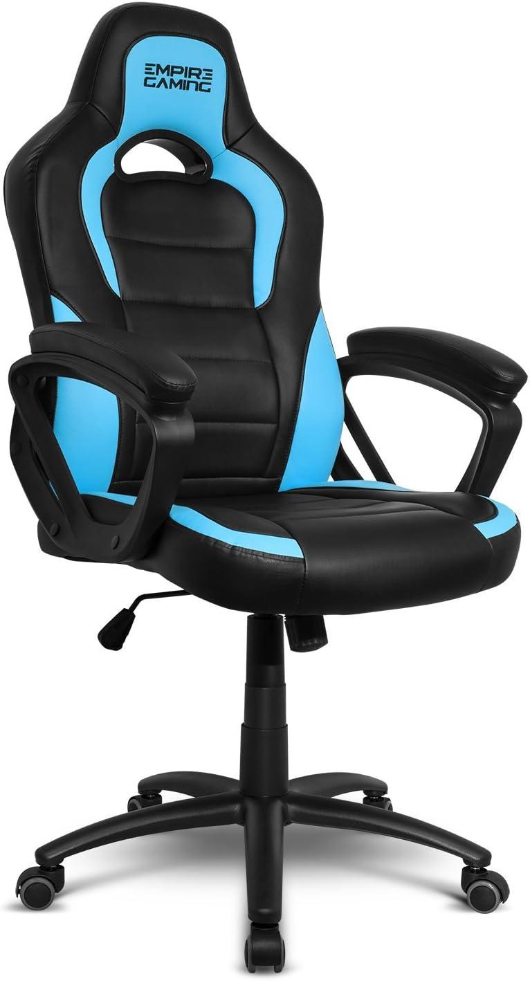 EMPIRE GAMING - Sillón Gamer Racing 500 Serie Azul - Reposabrazosultracómodos y mullidos