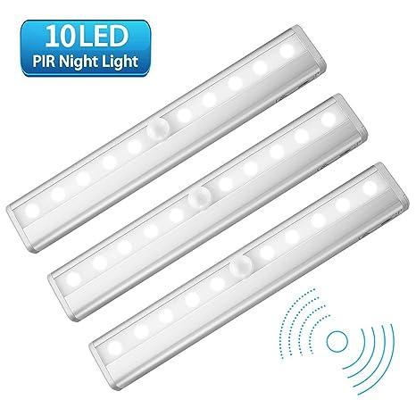 Lámpara LED del Armario, Beauty Star 10 LEDs-3 Modos de Luz Barra de