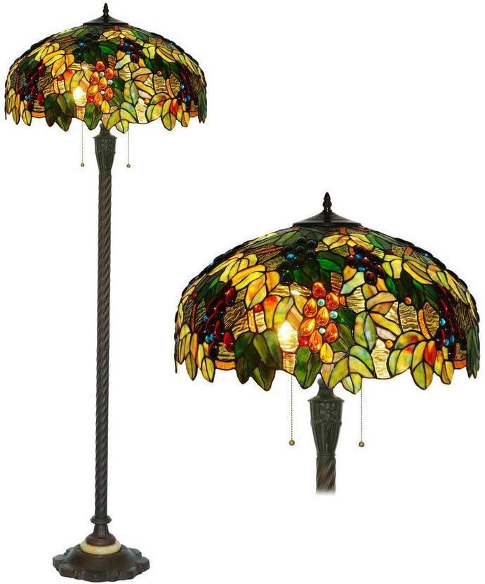 Tiffany Style Floor Lamps Vintage Grape