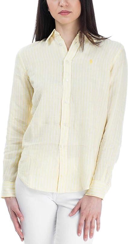 Ralph Lauren 211732639007 - Camiseta para mujer, color amarillo Amarillo amarillo talla marcado XL INT: Amazon.es: Ropa y accesorios