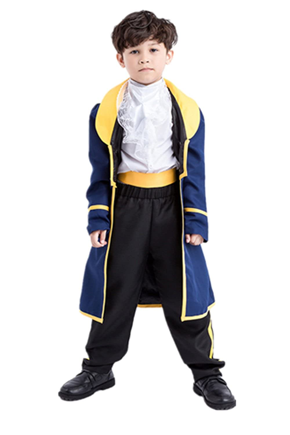 Yanekop Boys Halloween Costume Toddler Beauty and The Beast Prince Adam Cosplay