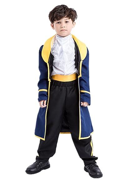 Yanekop Boys Halloween Costume Toddler Beauty and The Beast Prince Adam Cosplay(M)  sc 1 st  Amazon.com & Amazon.com: Yanekop Boys Halloween Costume Toddler Beauty and The ...