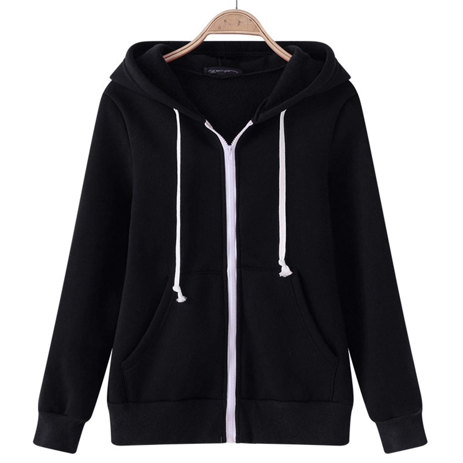 Tiehan Female Hoodies Sweatshirt Autumn Winter Long Sleeve Zipper Hooded Sudaderas Mujer Warm Women Tracksuit Streetwear at Amazon Womens Clothing store: