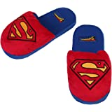 """DC Comic's Superman """"S"""" Symbol Red and Blue Soft Slippers (Extra Large)"""