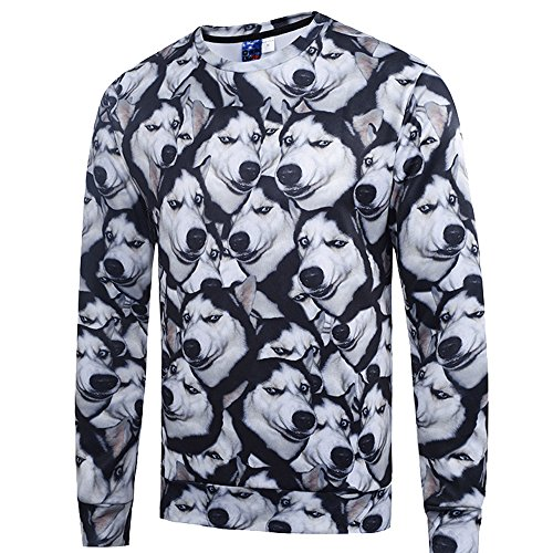 Price comparison product image Retrograder Men's Fashion 3D Print Long Sleeve Casual Printing Pullover SweatShirts h01-8176-US-S(Asian-L)