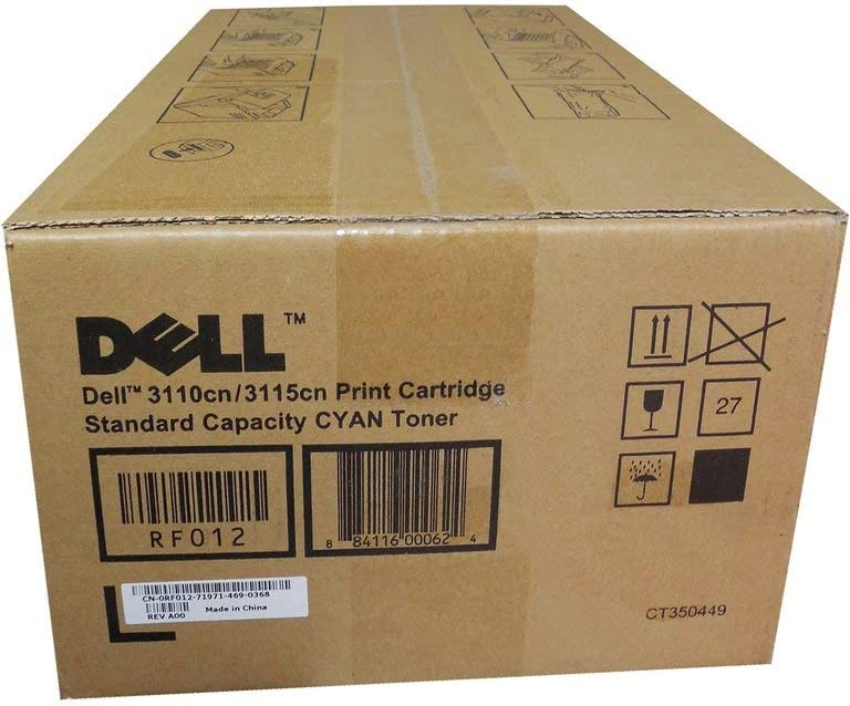 Dell RF012 3110 3115 Toner Cartridge (Cyan) in Retail Packaging