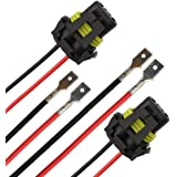 tomall h1 h3 to 9005 9006 retrofit wiring harness for led headlight fog  light connector socket