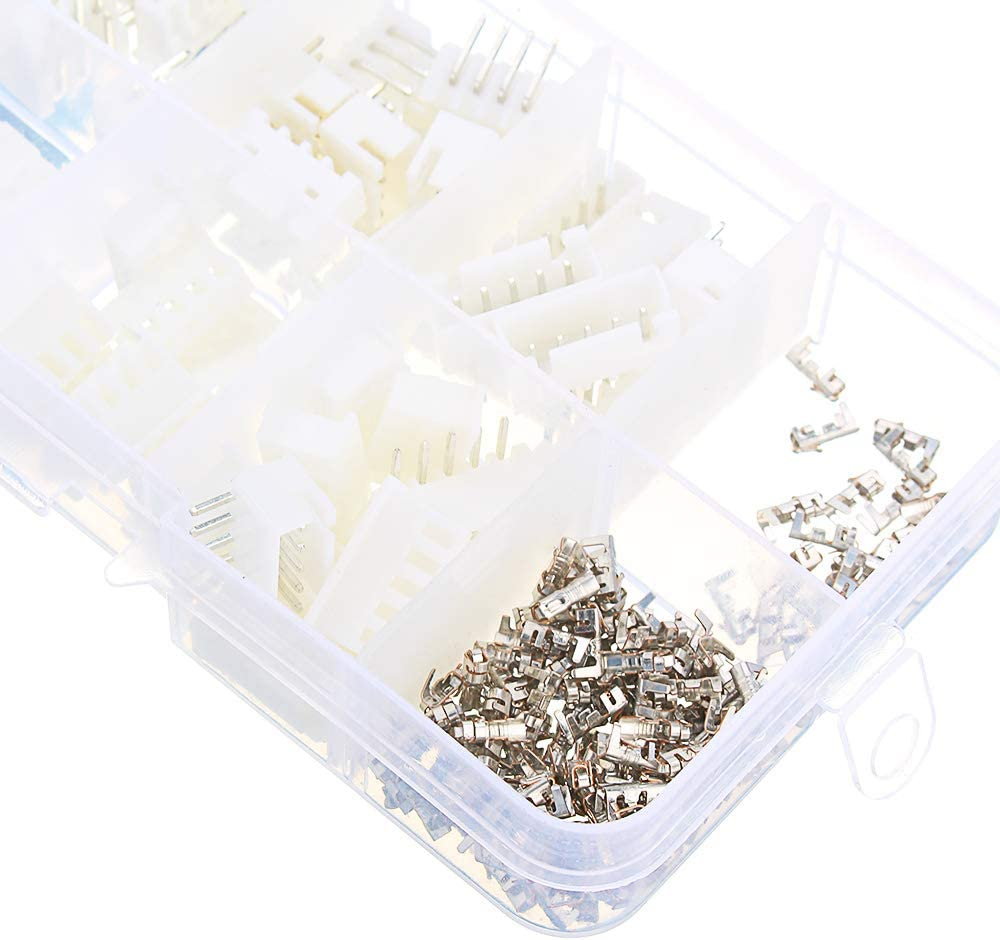 ROUHO 150Pcs 2//3//4//5Pin Jst-Xh 2.54Mm Dupont Connector Homme//Female Wire Cable Jumper Pin Header Housing Connector Terminal Kit