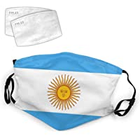 Argentina Flag Argentinian National Flags Washable Mouth Filter Reusable Cotton Face for Adults Women Men Protect