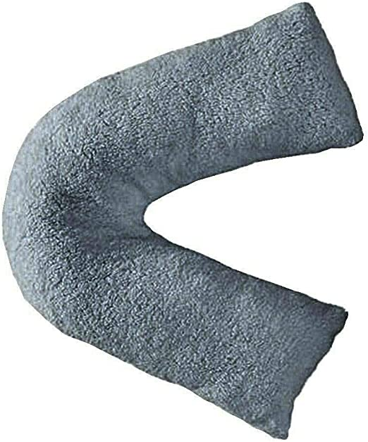 Teddy Bear Grey V Shaped Pillow Grey