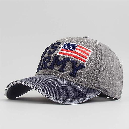 zhuzhuwen Hot Hat Washed Old American Flag Letra Gorra de béisbol ...