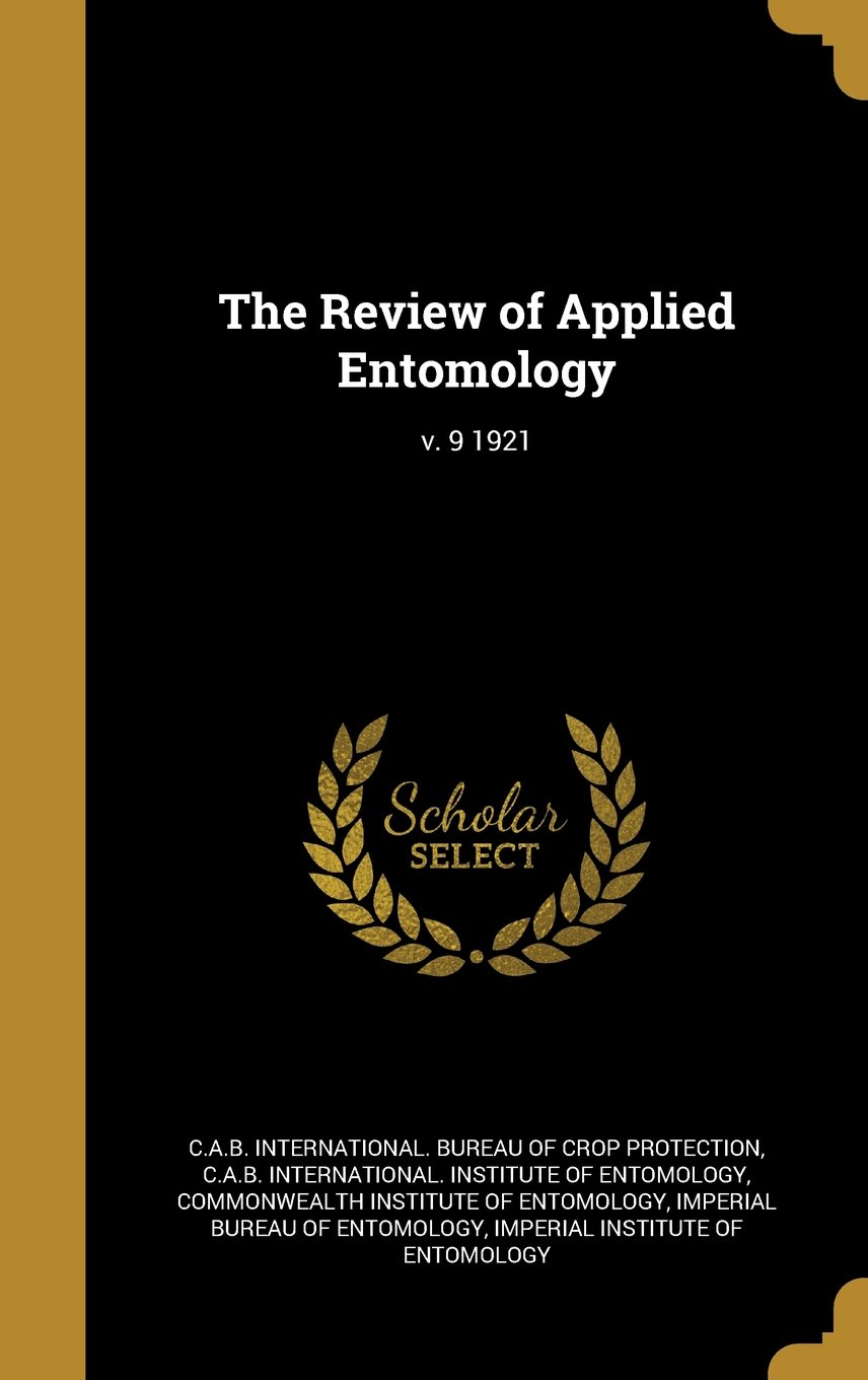 Download The Review of Applied Entomology; V. 9 1921 ebook