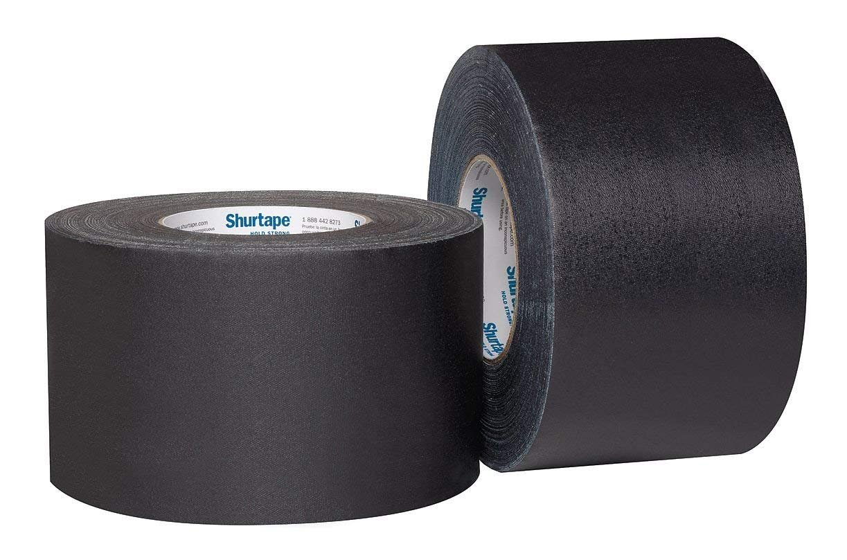 Seforim and Book Binding Special - Shurtape - 6 Rolls Total of Black 2-inch and 3-inch Black Book Binding Tape by Shurtape
