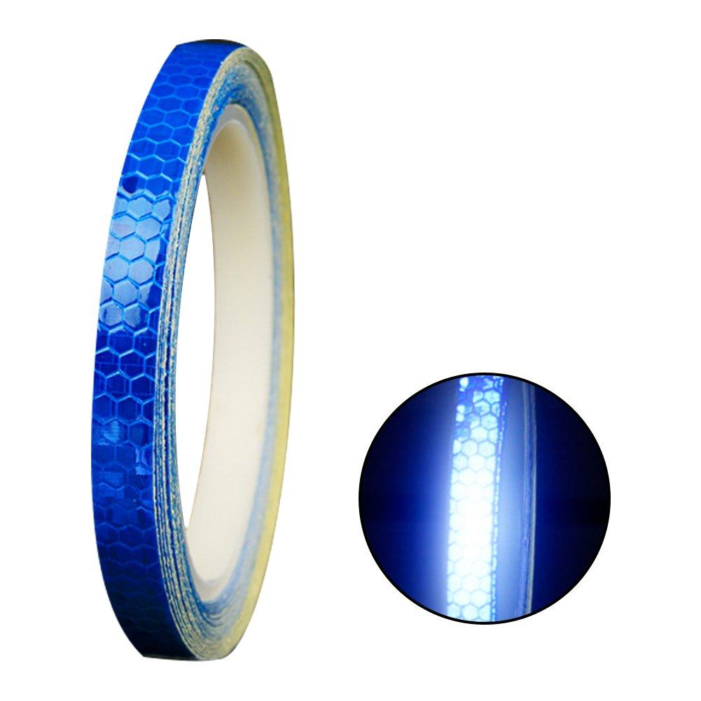 Ndier Cinta Reflectante Adhesiva Pegatina Seguridad Alta Intensidad Pegatina Autoadhesivo Seguridad Advertencia para Coche Camió n 8m Azul