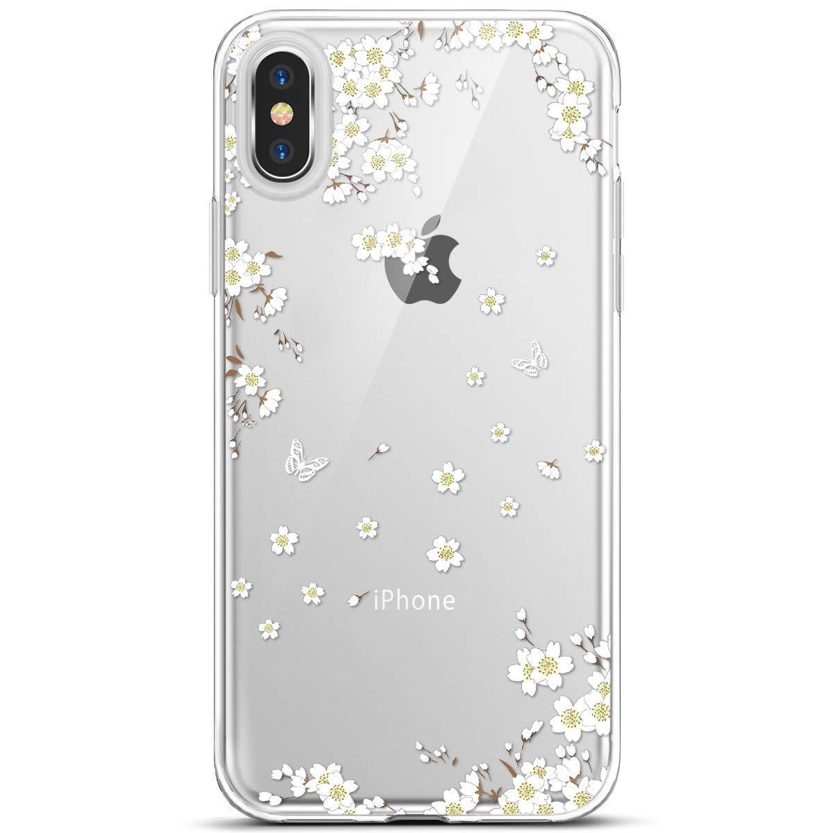 MoreChioce Compatibile con Custodia iPhone XS Case TPU Colorate Dipinto Protettivo Morbida TPU AntiGraffio Case Compatibile con iPhone XS,Gatto#2