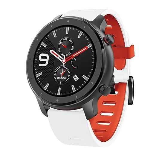 SHSH - Correa de silicona de repuesto para reloj inteligente Huami Amazfit GTR de 47 mm, correa para reloj inteligente AMAZFIT GTR de 47 mm, color ...