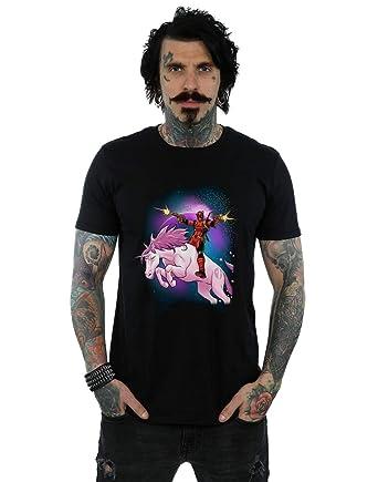 ba4fc6b52 Marvel Men's Deadpool Space Unicorn T-Shirt: Amazon.co.uk: Clothing