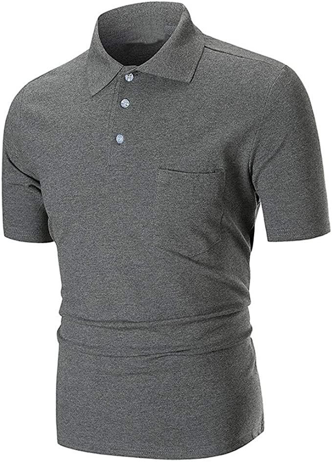 Camisas Para Hombre Frashing Polo Camisa Básica Polo Mode De Manga ...