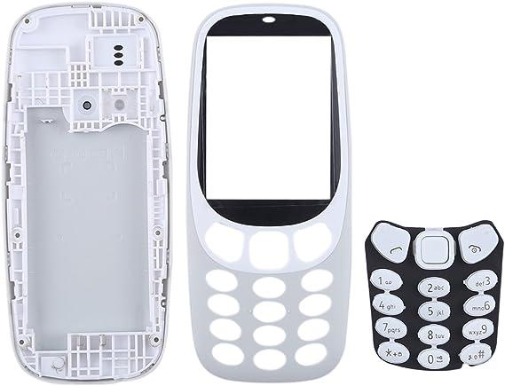YANCAI Repuestos para Smartphone Cubierta de Carcasa Completa con Teclado de para Nokia 3310 (Negro) Flex Cable (Color : Grey): Amazon.es: Electrónica