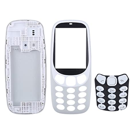 YANCAI Repuestos para Smartphone Cubierta de Carcasa Completa con Teclado de para Nokia 3310 (Negro