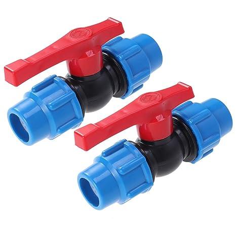 OUNONA 2 Unidades 1/2 Bolas de plástico Grifo Llave Agua Válvula de Bola Válvula