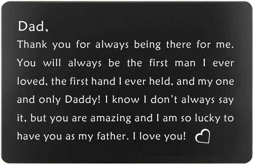 Levonta Men S Birthday Gifts For Dad From Daughter Fathers Day Gifts Ideas Dads Christmas Present Engraved Wallet Insert For Father Black Gifts For Dad Amazon Co Uk Luggage