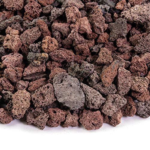 (Southwest Boulder & Stone Landscape Rock and Pebble | 2000 Pounds | Natural, Decorative Stones and Gravel for Landscaping, Gardening, Potted Plants, and More (Red Lava, 3/8 Inch))