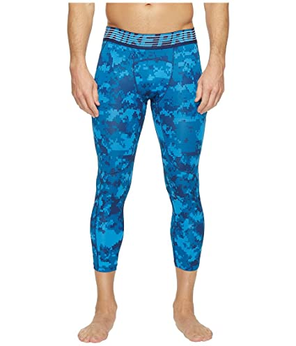 7ed57c55b4a Amazon.com : Nike Pro Hypercool Printed Tight Industrial Blue/Light Photo  Blue/Black Men's Casual Pants : Everything Else