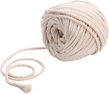 Sadingo Cordón de algodón trenzado, 10 metros, hilo de macramé, colores naturales, 10 mm, cuerda para manualidades, cordel manualidades.: Amazon.es: Bricolaje y herramientas