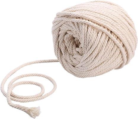 Sadingo Cordón de algodón trenzado, 10 metros, hilo de macramé ...