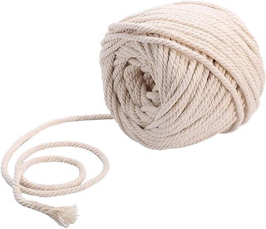 Cuerda de algodón de Sadingo, trenzada, 20 metros, hilo de macramé ...