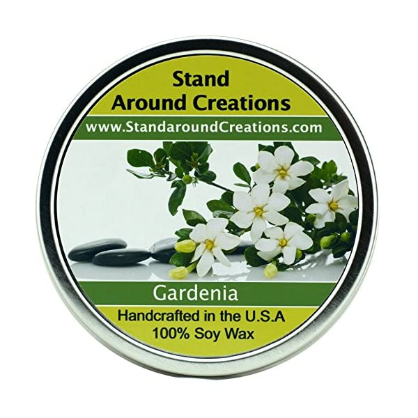 Premium 100% All Natural Soy Wax Aromatherapy Candle – 16oz Tin – Gardenia: This exquisite aroma of tropical gardens with a top note sweet green and a floral body intense and rich truly capturing the natural aroma found in this beautiful flower. Made with natural essential oils.
