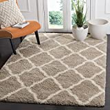 Safavieh Hudson Shag Collection SGH283S Beige and Ivory Moroccan Geometric Area Rug (8' x 10')