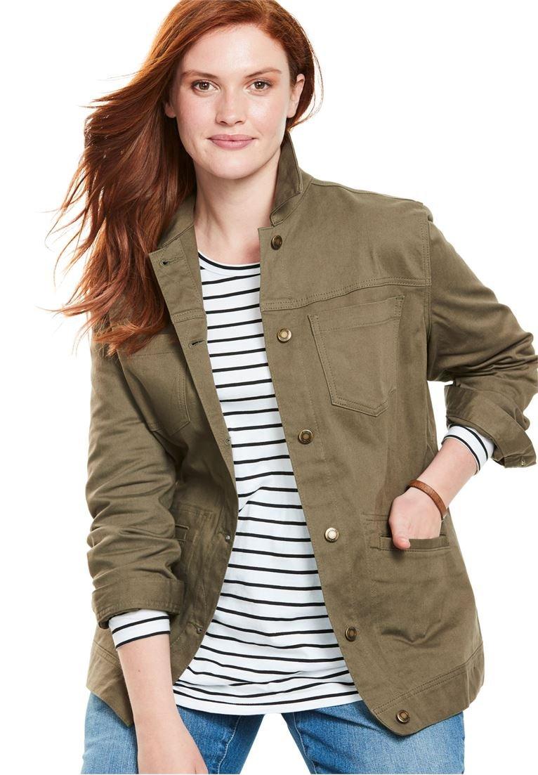 Woman Within Women's Plus Size Denim Jacket